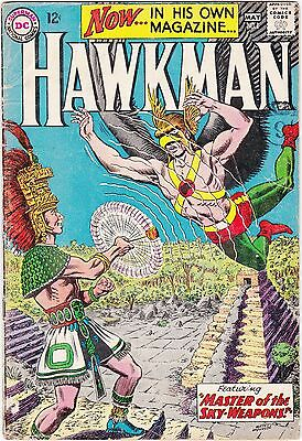 US DC comic Silver Age; HAWKMAN Number ONE. PENCE copy  graded as G to VG