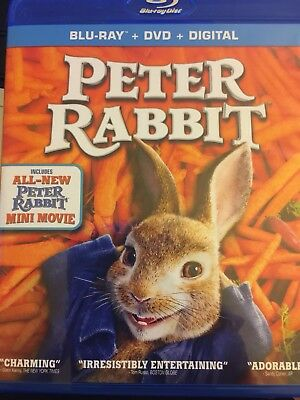 Peter Rabbit Blu-ray/DVD, 2018) 2 disc combo  Movie