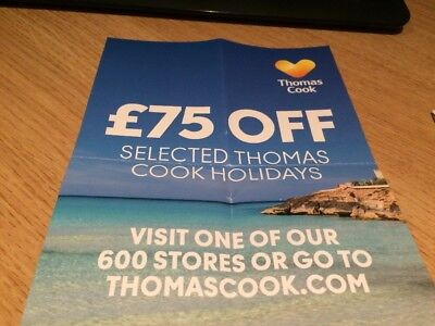 Thomas Cook £75 off Thomas Cook Holidays Buy before 31/12/18