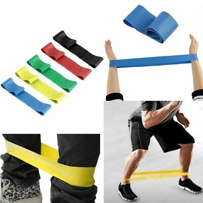5x Resistance Stretch Loop Band Gym Yoga Fitness Exercise Elastic Rope Strap UK