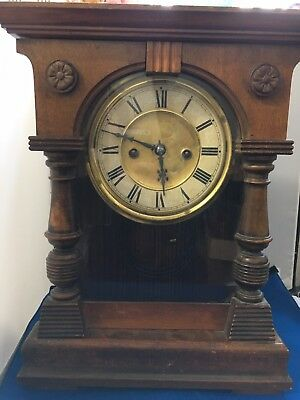 Antique Wind Up Mechanical Clock made in Wurttemberg number 7168 DWN 17/12