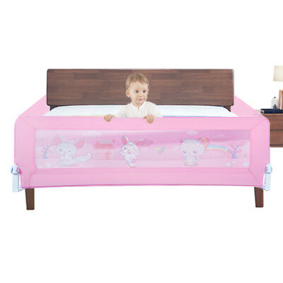 180CM Pink Safety Bedrail Bed Rail Cot Guard Protection Child toddler Kids Baby