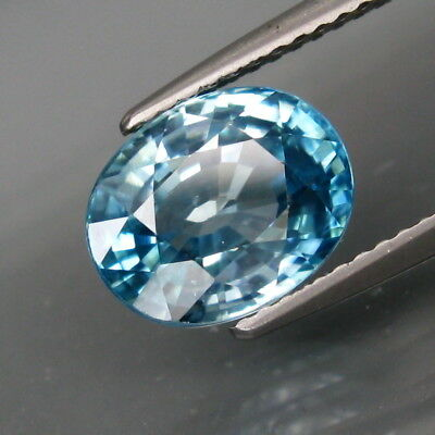 4.29Ct.Ravishing Color&Clean Ultra Lustrous Natural BIG Blue Cambodian Zircon
