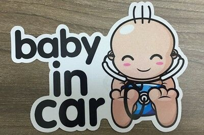 ( Brightt Set of x2 ) Baby On Board Safety Vinyl Sticker Decal Sign For All Cars