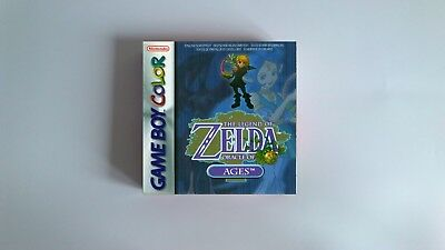 The Legend of Zelda Oracle of Ages  - box only - GBC - thick cardboard.