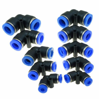 5pcs Air Pneumatic Push In Fitting Uninon Elbow Connector 4 6 8 10 12mm Tube OD