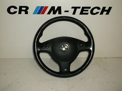 BMW E46 M3 M sport leather steering wheel complete - very good condition
