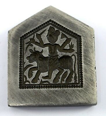 Unique collectible Rare Ethnic Jewellery Making Iron Stamp /Dye/Seal. i7-34 UK
