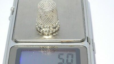 Antique solid silver sowing thimble halmarked Chester by H,W unique collectable.