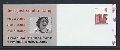 "GB 1st CLASS SELF ADHESIVE (EX - BOOKLET) ""LOVE"" STAMP"