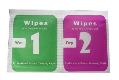 ✓ 200 SET CLEANING WIPE MOBILE PHONE SCREEN CAMERA LENS DUST REMOVAL DRY WET
