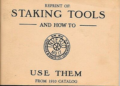 Reprint Of Staking Tools And How To Use Them from 1910 catalog Kendrick & Davis