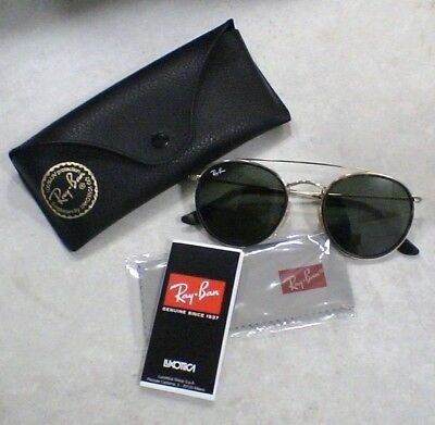 8320719e5951a9 Lunettes Solaire Ray Ban Luxottica - RB3647N - Or - ROUND DOUBLE BRIDGE -  NEUF