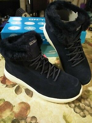 f6259faccef7 BOBS WOMENS ANKLE Boot Size 8.5 Black Luxe Rustic Sole Lace up ...
