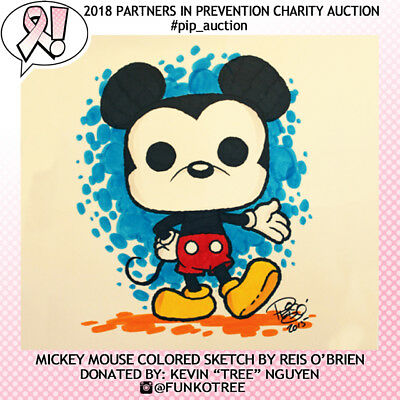 Mickey Mouse original art by Funko artist Reis O'Brien *Charity* #pip_auction