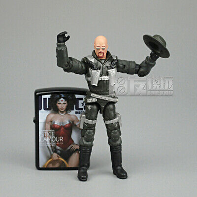 """3.75/"""" Gi Joe Blue White Wild Bill  with weapons Rare Action Figure #002"""