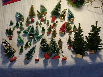Vintage Mixed Lot Of Bottle Christmas Trees 40+