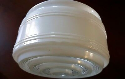 "Antique 6"" diameter glass light globe"