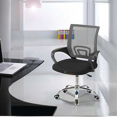 Adjustable Swivel Office Ergonomic Mesh Chair Comfort Mid-Back Computer Desk