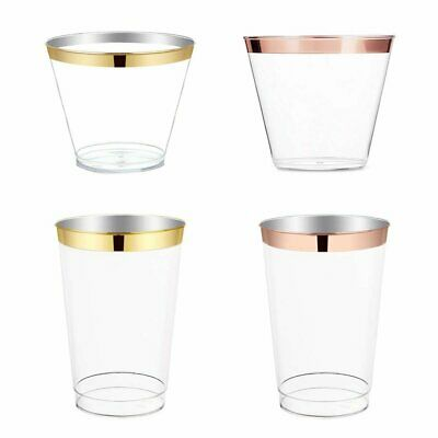Plastic Wine Glass Juice Champagne Cocktail Wedding Birthday Xmas Party Cup