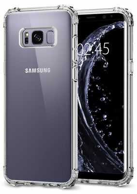 Case Cover For Samsung Galaxy S8 Plus Shock Proof Crystal Clear Soft Silicone
