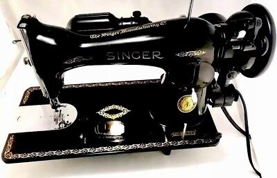 Industrial Strength Singer Sewing Machine  15-91, Fully Serviced Sews Leather