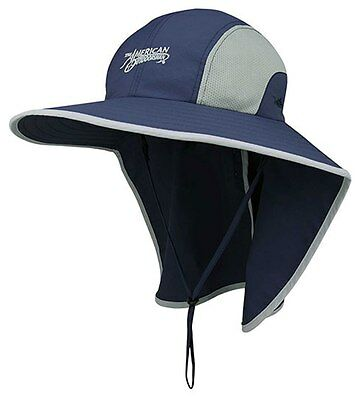 461c8079ef9 American Outdoorsman Taslon UV Large Bill Flap Cap Fishing Hat Navy Blue  57~60cm