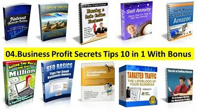 Business Income Secrets 10 in 1 Ebooks Collection+Bonus+Master Resell Rights PDF
