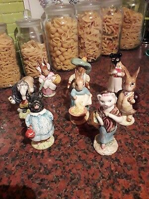 vintage beswick beatrix potter figures eight 4 bp-2 3 bp-3b 1bp-3a