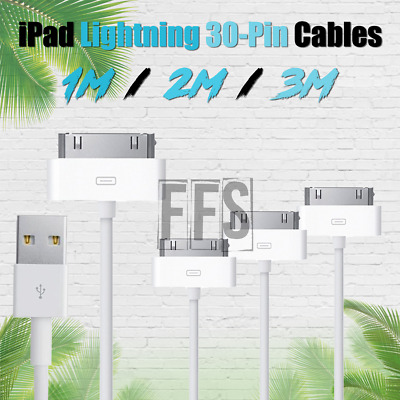 iPad Cables 3 6 10 ft 30-PIN Charger lot USB Lightning Cord iPhone 4s iPad 1 2 3