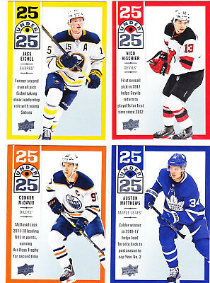 2018-19 Upper Deck Hockey Series 1 Complete Set 25 UNDER 25 (25) Cards 18/19 UD
