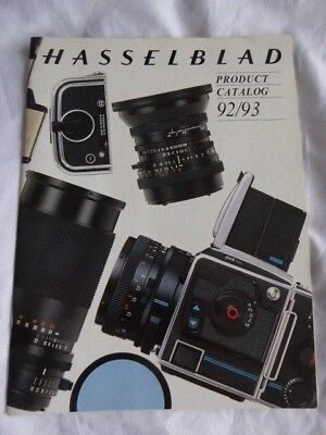 Hasselblad Product Catalogue 1992/1993