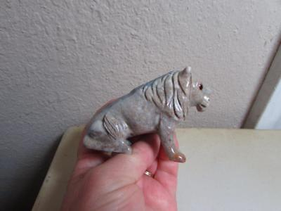 Lion, African, Hand carved Marble from the Andes of Peru, Multi Color Stone Lion