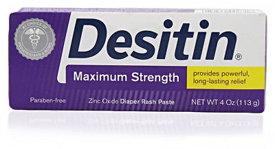 Desitin Maximum Strength Zinc Oxide Diaper Rash Paste 4Oz