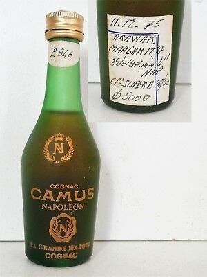 Mini Bottle Cognac Camus Napoleon Givree 5 Cl Miniature
