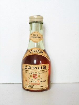 Mini Bottle Cognac Camus Old Vsop 1/10 Pint 3 Cl Miniature
