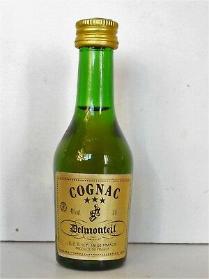 Mini Bottle Cognac Delmonteil *** 3 Cl Miniature