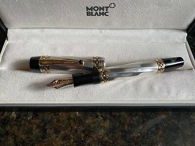 Limited Edition MONTBLANC Fountain Pen KARL THE GREAT OF ART 925 Silver
