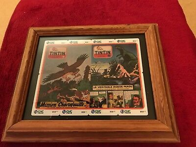 8 framed Tintin journal phonecards chinese