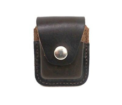 Zippo Lighter Pouch Case Brown Leather With Belt Loop Made in USA New