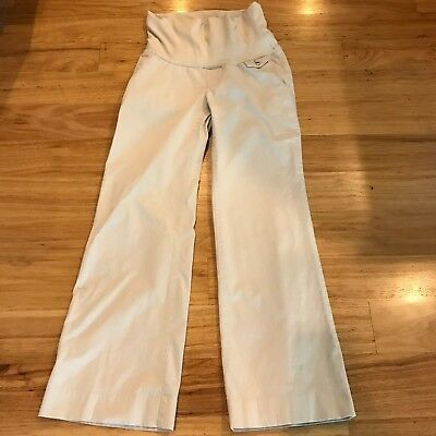 Old Navy Maternity Pants Size Small Full Panel Stretch Khaki Chino Roll Over
