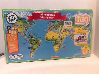 NEW LEAPFROG LEAPREADER Interactive United States Map Jumbo Puzzle ...