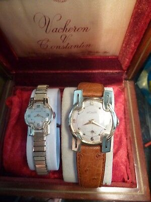 Unique Gift! His/hers Jaeger Lecoultre Vintage Deco Gold Dress Watches.very Rare