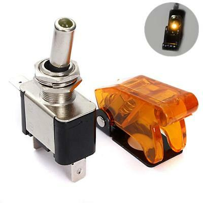 Light Ignition Switch Toggle with Cover Constant 20 Amps 12-Volts Orange