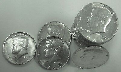 Roll $10  1966 - 1965 - 1964  Kennedy 40 % Silver Half Dollar Roll