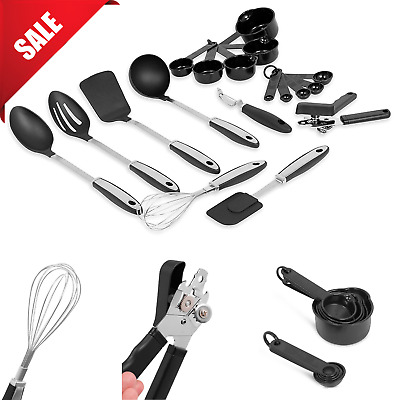 Stainless Steel Utensil Set Silicone Cooking Kitchen Cookware Bakeware Non Stick