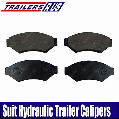 4 x Trailer Disc Brake Pads suit Alko Trojan Meher TA300 Hydraulic Calipers