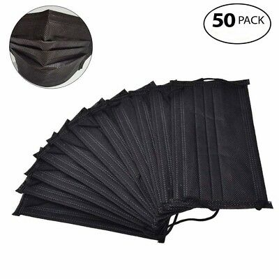 Air gas dust Filter face Mask carbon Mask Anti-Fog Haze Activated 50pDisposable