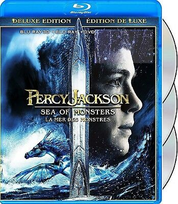 Percy Jackson: Sea Of Monsters - Bilingual * New Blu-Ray 3D/2D + Dvd*