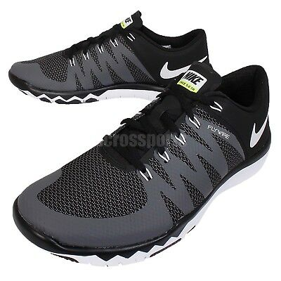 d3d473ddf2c89a Nike Free Trainer 5.0 V6 Black White Grey Mens Cross Training Shoes  719922-010